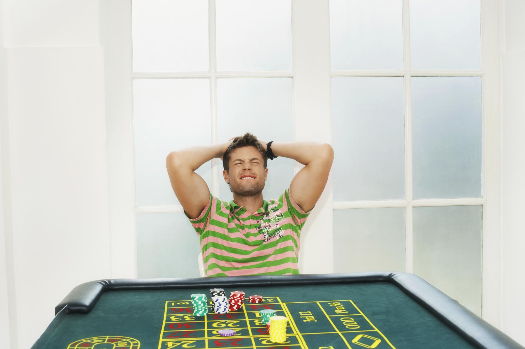 Mand spiller roulette